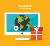 Digital marketing design Stock Photo