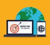 Digital marketing design Stock Images