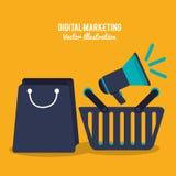 Digital marketing design Royalty Free Stock Photos