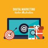 Digital marketing design Stock Photography