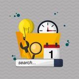 Digital marketing design. technology icon. multimedia concept. Digital marketing  concept with icon design, vector illustration 10 eps graphic Stock Image