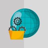 Digital marketing design. technology icon. multimedia concept. Digital marketing  concept with icon design, vector illustration 10 eps graphic Stock Images