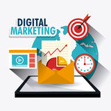 Digital marketing design. Digital and technology marketing design, vector illustration eps10 Stock Images