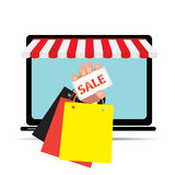 Digital marketing and ecommerce.  Stock Photos