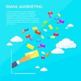 Digital Marketing Email Laptop Businessman Hand Royalty Free Stock Photos