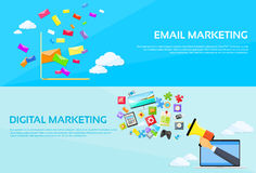 Digital Marketing Email Laptop Envelope Send Stock Images