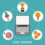 Digital marketing finance business trade. Vector illustration eps 10 Stock Image