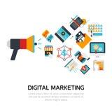 Digital Marketing Flat Design Stock Photo
