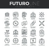 Digital Marketing Futuro Line Icons Set Royalty Free Stock Image