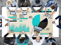 Digital Marketing Graph Statistics Analysis Finance Market Conce Royalty Free Stock Photos