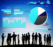 Digital Marketing Graph Statistics Analysis Finance Market Conce. Pt Stock Image