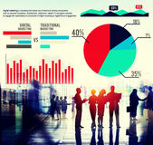 Digital Marketing Graph Statistics Analysis Finance Market Conce Stock Images