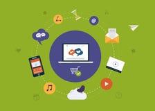 Digital marketing icons Royalty Free Stock Image