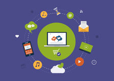 Digital marketing icons Stock Images