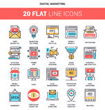 Digital Marketing Icons royalty free illustration