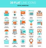 Digital Marketing Icons Stock Image