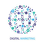 Digital marketing  illustration. Flat design Stock Photo