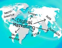 Digital Marketing Indicates Tech Technology And Selling Stock Photo