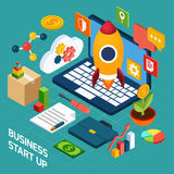 Digital Marketing Isometric Concept Stock Images