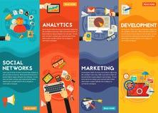 Digital-Marketing-Konzept-Fahnen Lizenzfreies Stockfoto