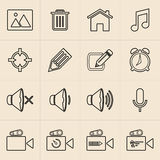Digital marketing line icons Stock Images