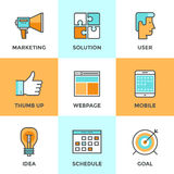 Digital marketing line icons set Royalty Free Stock Photos