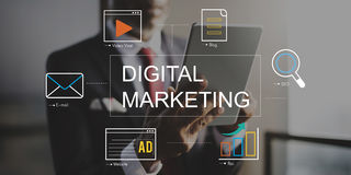 Digital Marketing Media Technology Graphic Concept Royalty Free Stock Photography