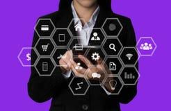 Digital marketing media in virtual icon. royalty free stock image