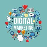 Digital marketing network business media design. Vector illustration eps 10 Stock Photo