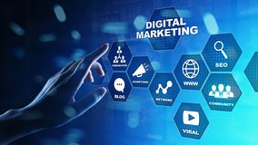 Digital marketing, Online advertising, SEO, SEM, SMM. Business and internet concept. Digital marketing, Online advertising, SEO SEM, SMM. Business and internet stock images
