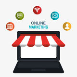 Digital marketing and online sales Royalty Free Stock Image