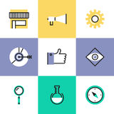 Digital marketing pictogram icons set Stock Images