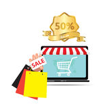 Digital marketing sale and ecommerce.  Stock Image
