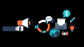 Digital Marketing SEO Animation Transparent Vector Motion Graphics Loop