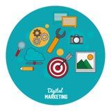 Digital marketing seo media network. Vector illustration eps 10 Royalty Free Stock Images