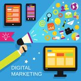 Digital marketing set Royalty Free Stock Photography