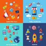 Digital Marketing Set Royalty Free Stock Photos