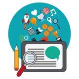 Digital marketing social network design. Vector illustration eps 10 Stock Photography