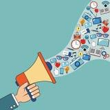 Digital marketing speaker network image. Vector illustration eps 10 Royalty Free Stock Image