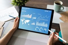 Digital Marketing Strategy Dashboard on the screen. stock image