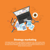 Digital Marketing Strategy Plan Business Web Banner Stock Photo