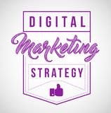 Digital marketing strategy sign stamp seal illustration design. Isolared over a white background Stock Image