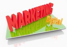 Digital Marketing on Tablet Stock Photography