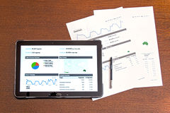 Digital marketing on the tablet Stock Images
