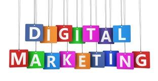 Digital Marketing Tags Royalty Free Stock Photo