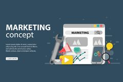 Free Digital Marketing, Teamwork, Business Strategy And Analytics, For Website And Mobile Website Development Royalty Free Stock Photography - 163400747