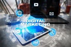 DIgital marketing technology concept. Internet. Online. SEO. SMM. Advertising. Stock Photos