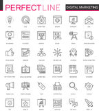 Digital Marketing thin line web icons set. Online business outline stroke icons design. Digital Marketing thin line web icons set. Online business outline Royalty Free Stock Photography