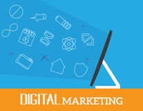 Digital marketing vector concept Stock Photography