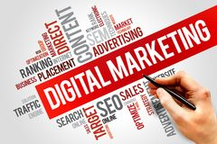 Digital Marketing. Word cloud, business concept Stock Images